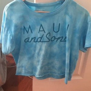 MUST HAVE AMERICAN EAGLE maui and son tie-dyed top